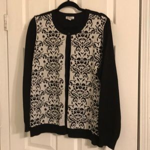 Beautiful black and silver cardigan sweater